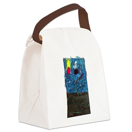 twoasteroidssq.JPG Canvas Lunch Bag