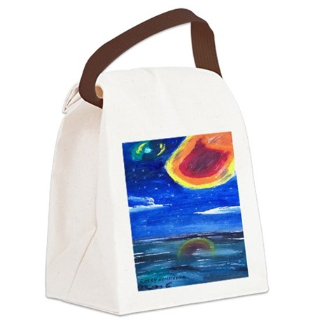 Asteroid Canvas Lunch Bag