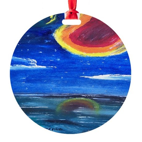 Asteroid Round Ornament