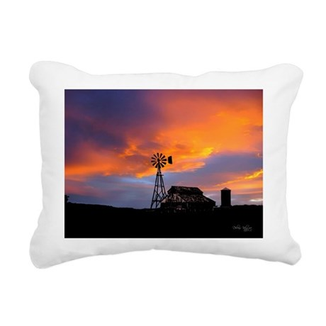 Sunset on the Farm Rectangular Canvas Pillow