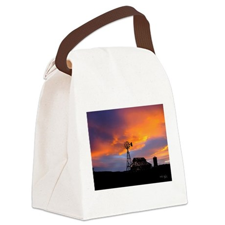 Sunset on the Farm Canvas Lunch Bag