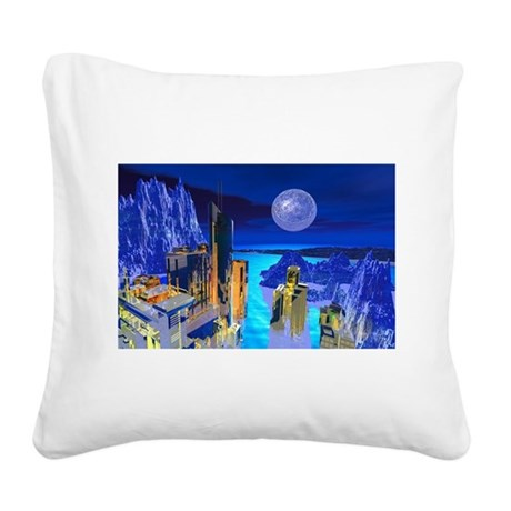 buildings1.jpg Square Canvas Pillow