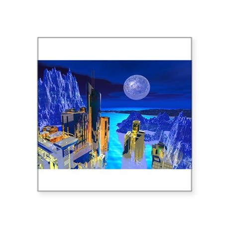 buildings1.jpg Square Sticker 3&quot; x 3&quot;