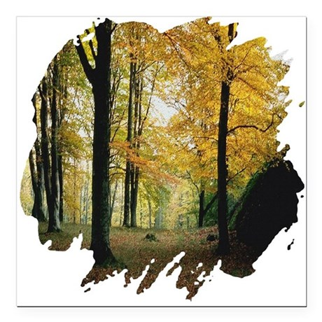 autumn Square Car Magnet 3&quot; x 3&quot;