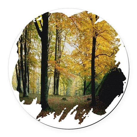 autumn Round Car Magnet