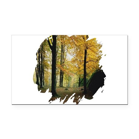 autumn Rectangle Car Magnet