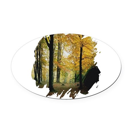 autumn Oval Car Magnet