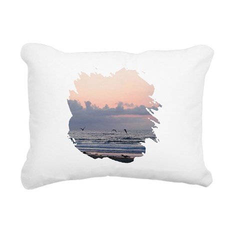 Ocean Scene Rectangular Canvas Pillow
