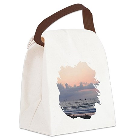 Ocean Scene Canvas Lunch Bag