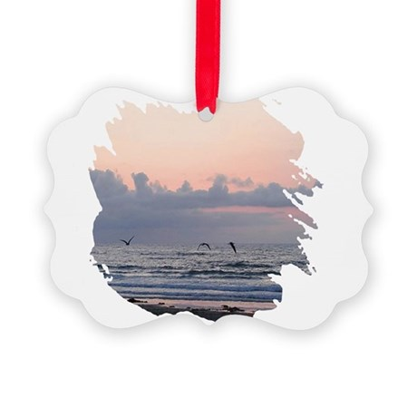 Ocean Scene Picture Ornament