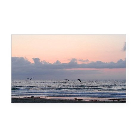 Ocean Scene Rectangle Car Magnet