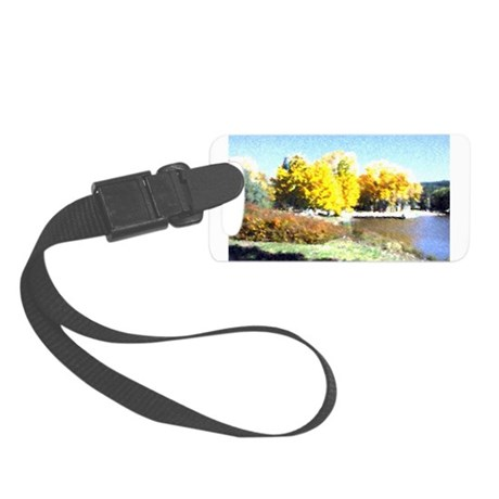 Autumn Lake Small Luggage Tag