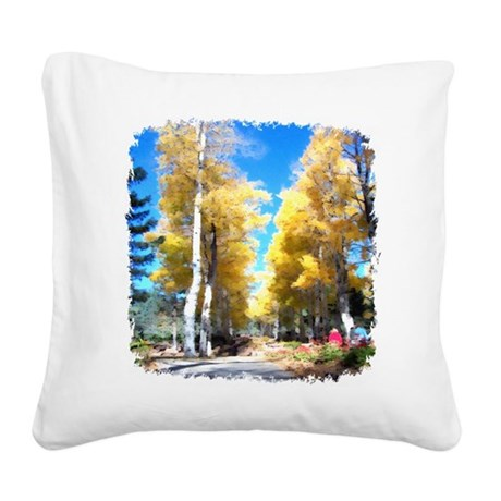 Aspen Trail Square Canvas Pillow