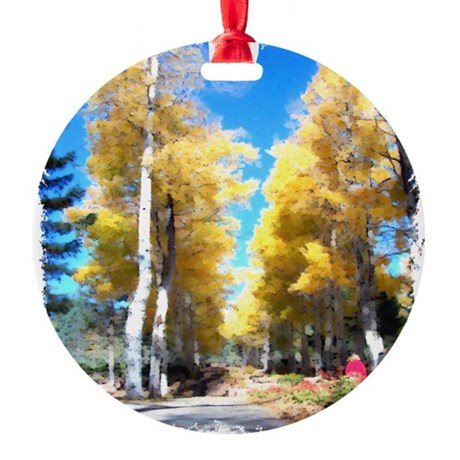 Aspen Trail Round Ornament