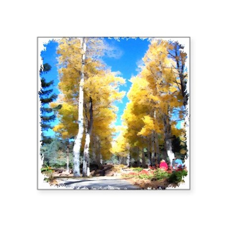 "Aspen Trail Square Sticker 3"" x 3"""