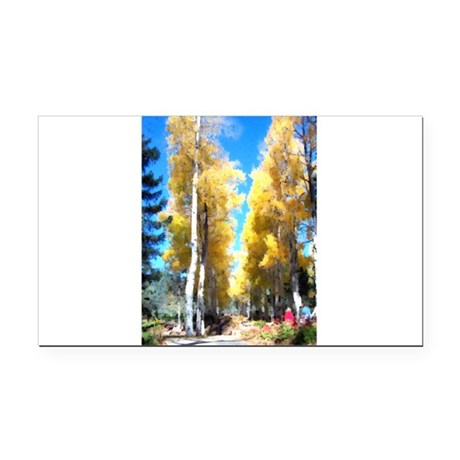 Aspen Trail Rectangle Car Magnet