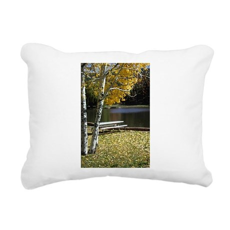 Picnic Table Rectangular Canvas Pillow