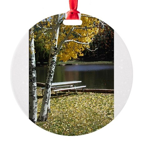 Picnic Table Round Ornament