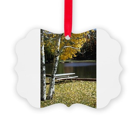 Picnic Table Picture Ornament