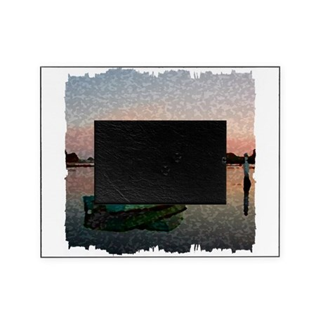 Sunset Boat Picture Frame