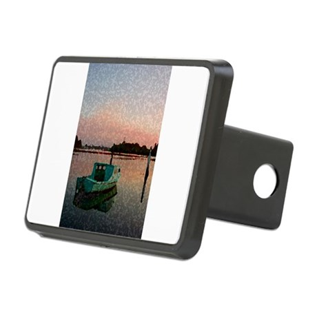Sunset Boat Rectangular Hitch Cover