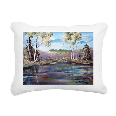Countryside View Rectangular Canvas Pillow