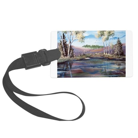 Countryside View Large Luggage Tag