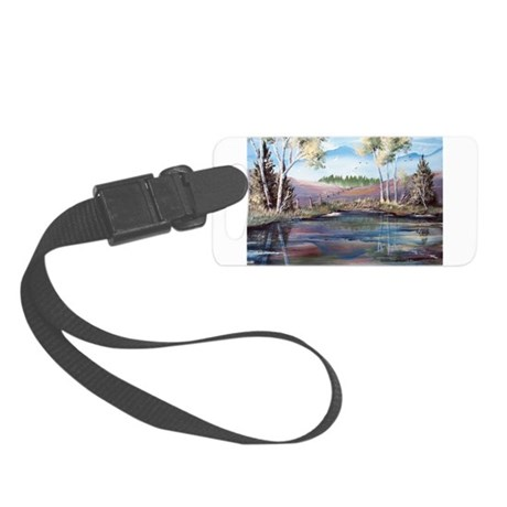 Countryside View Small Luggage Tag