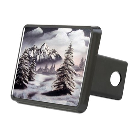 Snow Mountain Oval Rectangular Hitch Cover