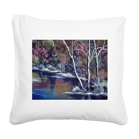 Aspen Reflections Square Canvas Pillow