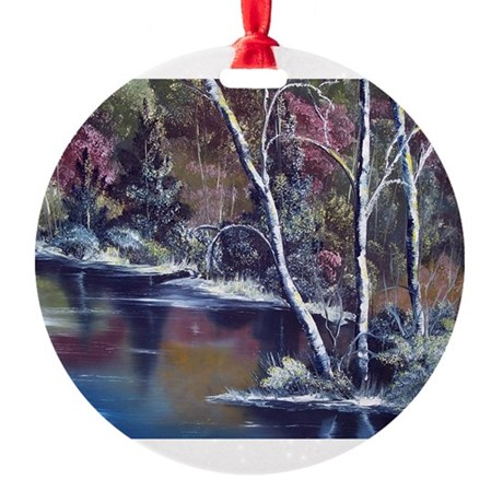 Aspen Reflections Round Ornament