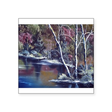 "Aspen Reflections Square Sticker 3"" x 3"""