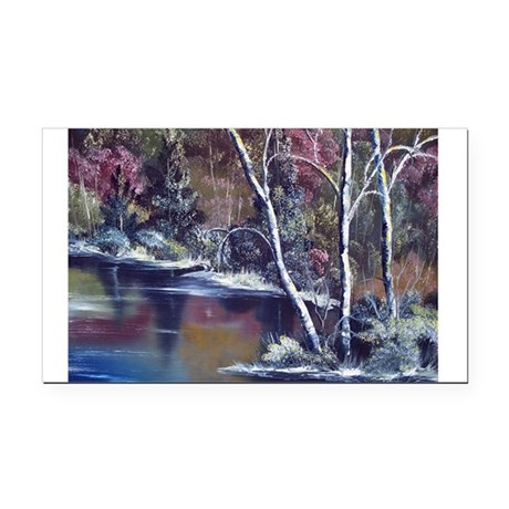 Aspen Reflections Rectangle Car Magnet
