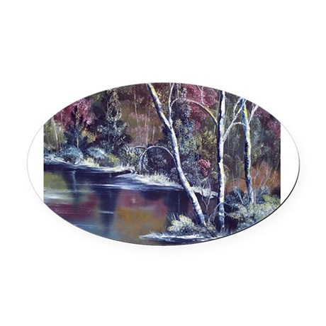 Aspen Reflections Oval Car Magnet