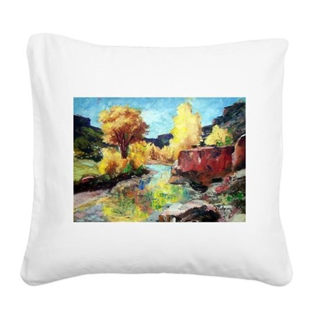 Autumn Canyon Square Canvas Pillow