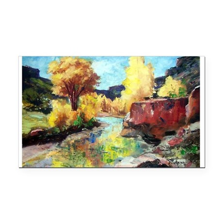 Autumn Canyon Rectangle Car Magnet