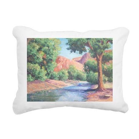 Summer Canyon Rectangular Canvas Pillow