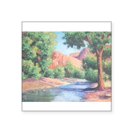 "Summer Canyon Square Sticker 3"" x 3"""