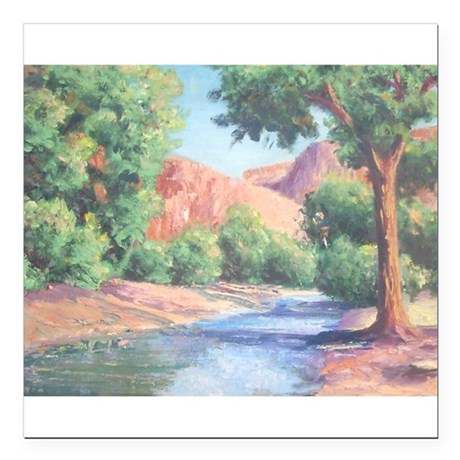"Summer Canyon Square Car Magnet 3"" x 3"""