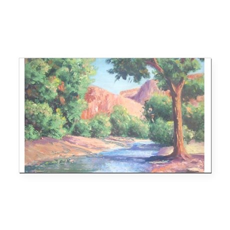 Summer Canyon Rectangle Car Magnet