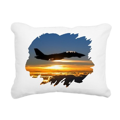 FD14tomcat.png Rectangular Canvas Pillow