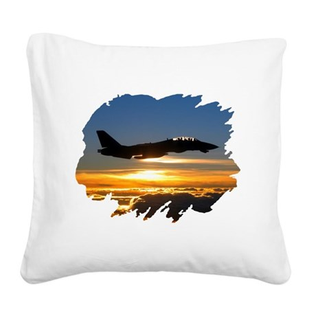 FD14tomcat.png Square Canvas Pillow