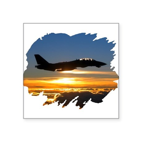 "FD14tomcat.png Square Sticker 3"" x 3"""