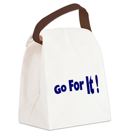 goforit3.png Canvas Lunch Bag
