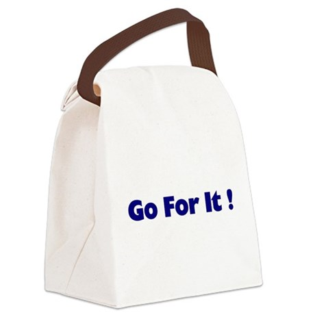 goforit1.png Canvas Lunch Bag