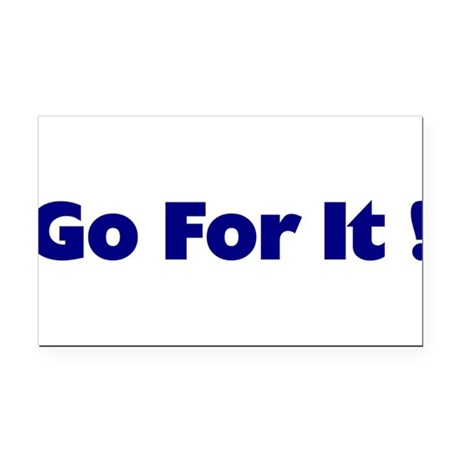 goforit1.png Rectangle Car Magnet