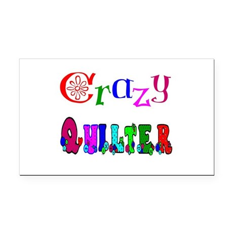 Crazy Quilter Rectangle Car Magnet
