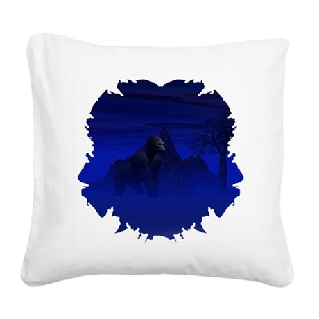 gorilla1bsq.png Square Canvas Pillow