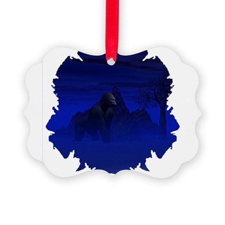 gorilla1bsq.png Picture Ornament