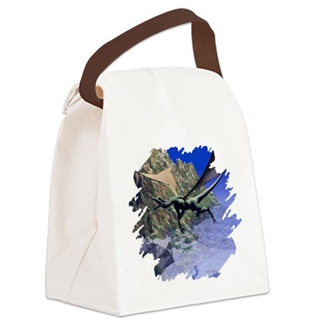 dragon3lg2.png Canvas Lunch Bag
